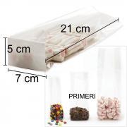 Celofan vrečke s papirnatim dnom, 7 x 5 x 21cm, 10 kom