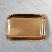 Zlat pladenj za piškote in pecivo