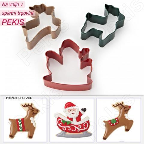 Wilton modelčki božiček z jelenčki, 3 delni