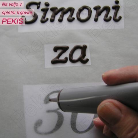 Hitro in enostavno pisanje po tortah in izdelava okraskov iz ČOKO tubic