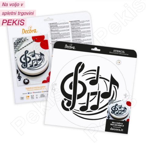 Šablona glasbene note 25 cm