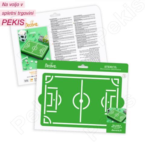 Šablona nogometno igrišče 30 x 20 cm
