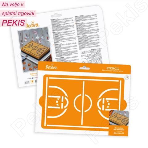 Šablona košarkaško igrišče 30 x 20 cm