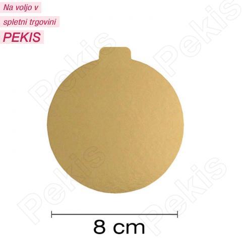 Zlat podstavek za monoporcije 8 cm
