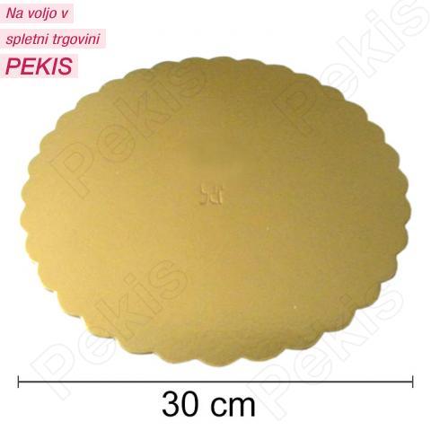 Podstavek 30cm, debelina 3mm - Zlata rožica