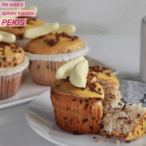 Recept za stracciatella-bananine muffine