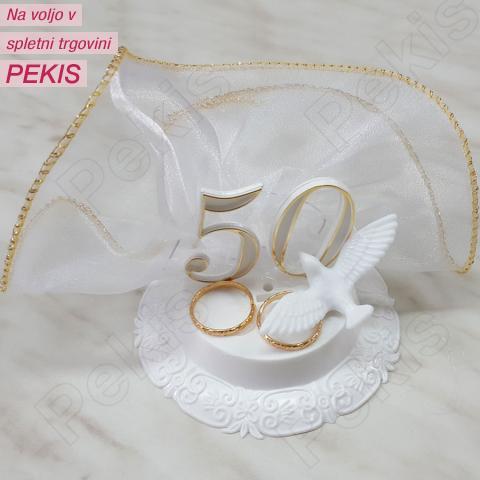 Okrasek za zlato poroko – zlata prstana