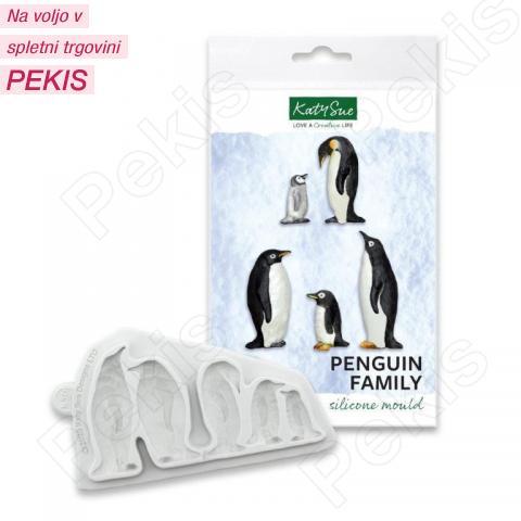 Katy Sue silikonski Modelček Družina pingvinov