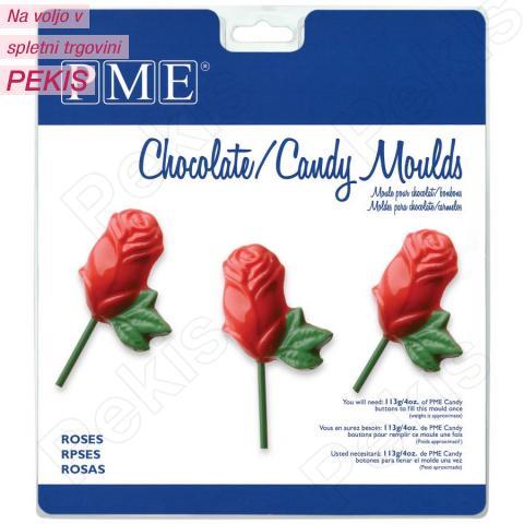 PME modelček za lizike ali čokoladke, vrtnice