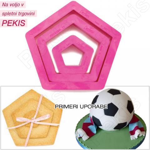 Modelčki peterokotniki, 3 delni, plastika