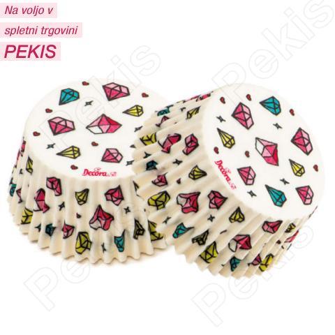 Papirčki za muffine Diamantki, 36 kom