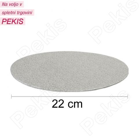 Podstavek 22cm, debelina 3mm – Srebrn