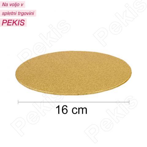 Podstavek 16cm, debelina 3mm – Zlat