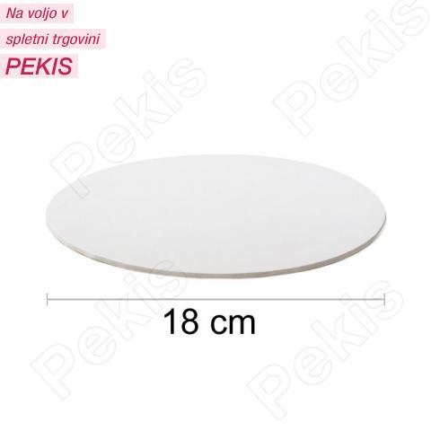 Podstavek 18cm, debelina 3mm – Bel
