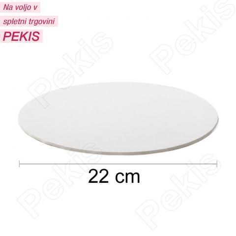 Podstavek 22cm, debelina 3mm – Bel