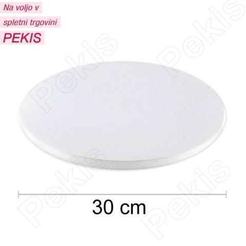 Podstavek 30cm, debelina 10mm – Bel