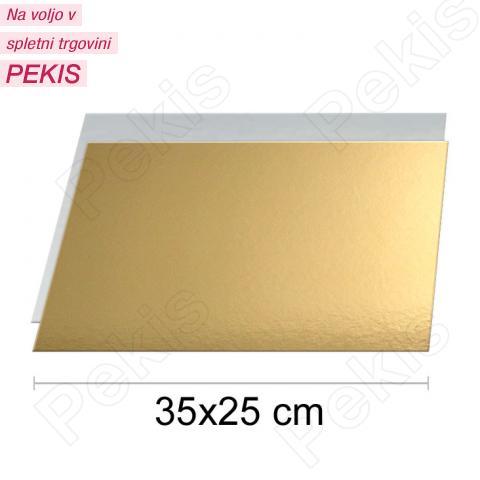 Zlat-srebrn podstavek 35x25cm, 1,5mm