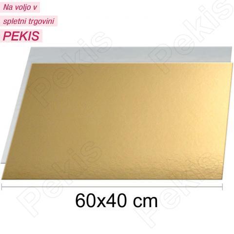 Zlat-srebrn podstavek 60x40cm, 1,5mm