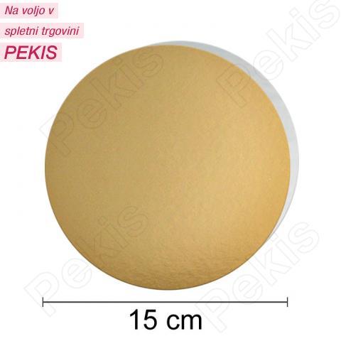 Zlat-srebrn mehkejši podstavek za torto 15 cm