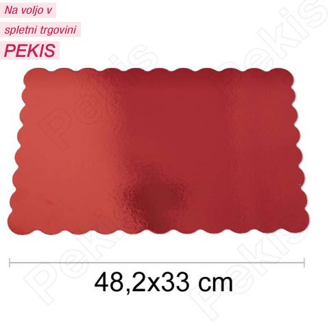 Podstavek 48x33cm, debelina 1,5mm – Rdeč