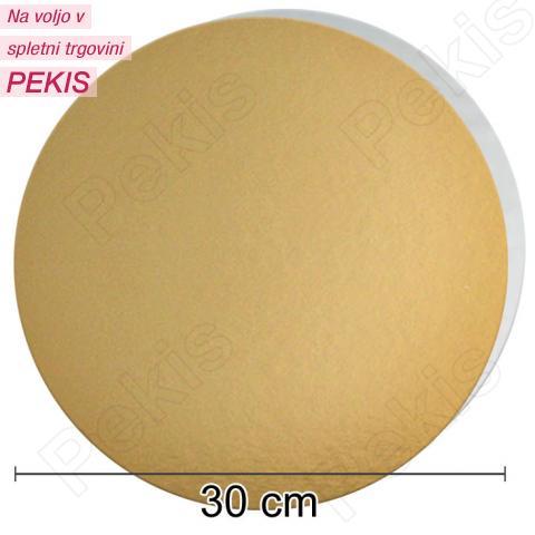 Zlat-srebrn mehkejši podstavek za torto 30 cm