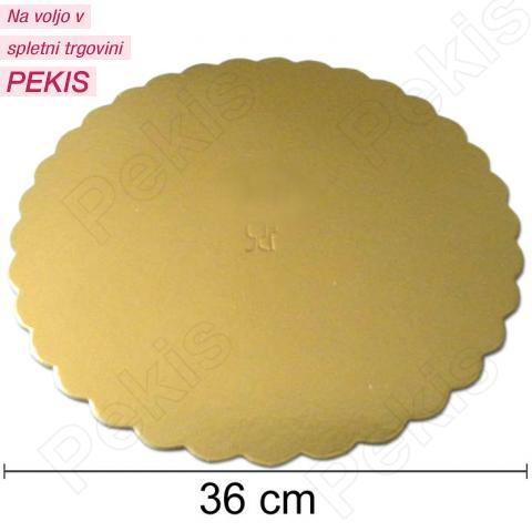 Podstavek 36cm, debelina 3mm - Zlata rožica
