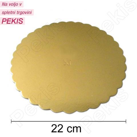 Podstavek 22cm, debelina 3mm - Zlata rožica
