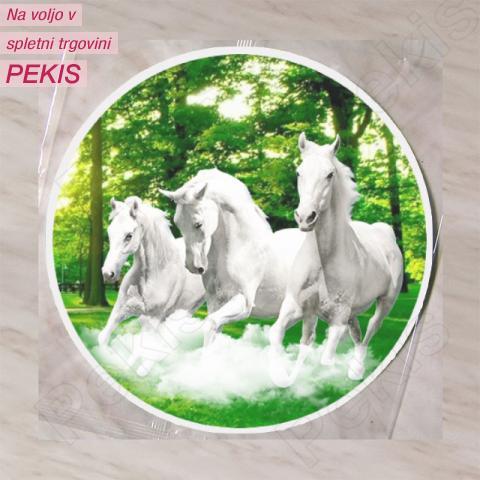Hostija Konji, Beli 15 cm