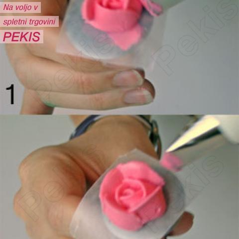 Maslena krema z beljaki za vrtnice ali premaz pod sladkorno tičino maso