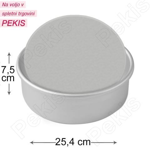 PME okrogel pekač z odstranljivim dnom Ø 25,4 x 7,5 cm, aluminij