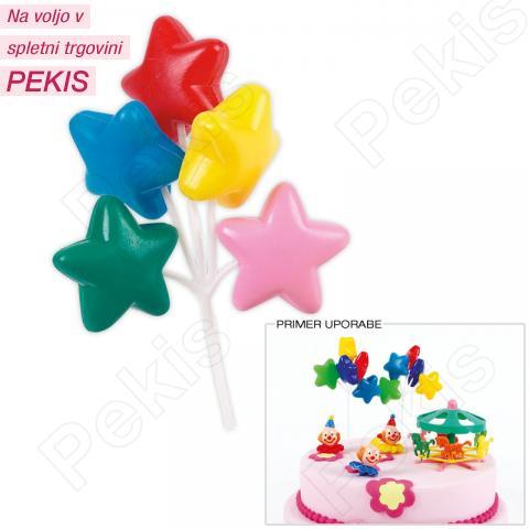 Dekoracija za torto - Zvezdice 16 cm