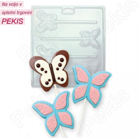 Modelček za čokoladne lizike metuljčki