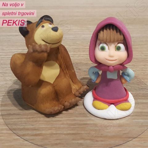 MAŠA in medved, sladkorne figurice, 2 kom