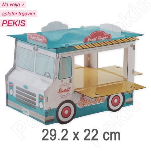 Stojalo tovornjak za muffine, krofe, minjone