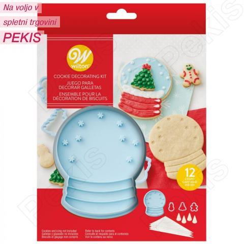 Wilton 4 modelčki, 4 vrečke, 4 nastavki - snežna krogla