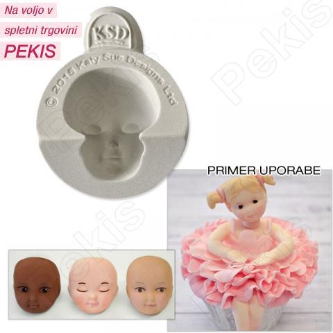 Silikonski Modelček otroška glavica