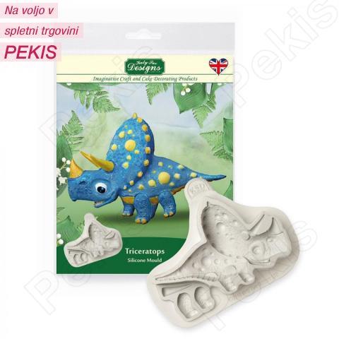Katy Sue silikonski Modelček Dinozaver Triceratop
