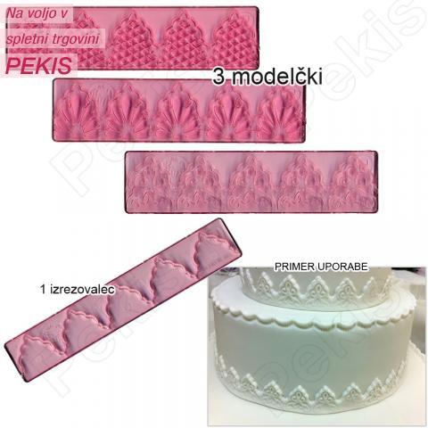 Modelček za izdelovanje čipk za torte - ČIPKE št.1