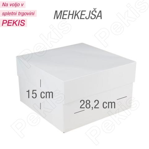 Kartonska embalaža za torto 28x28x15 cm, mehkejša