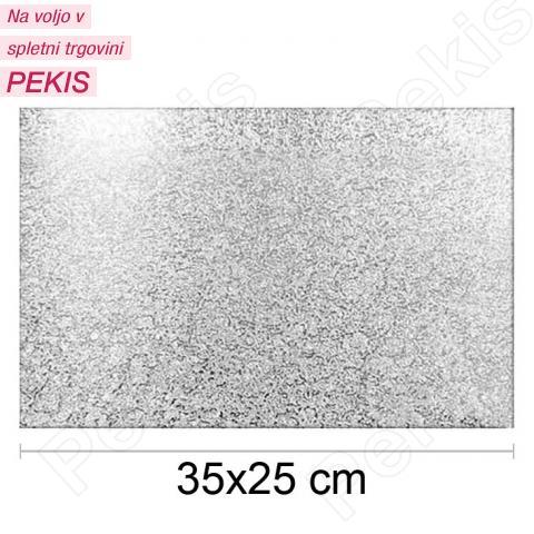 Podstavek 35x25cm, debelina 3mm – Srebrn