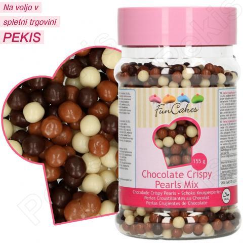 Hrustljave čokoladne Perlice MIX, 4 mm
