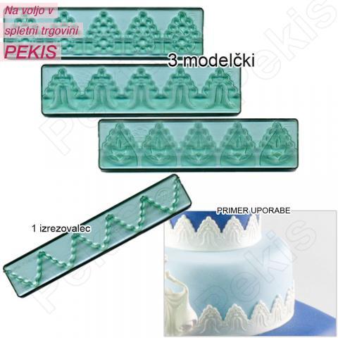 Modelček za izdelovanje čipk za torte - ČIPKE št.3