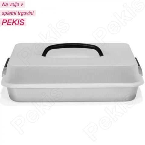 Patisse Silver-Top Podolgovat pekač z nosilnim pokrovom za varen prevoz 35x24 cm