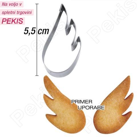 Modelček angelsko krilo 5,5 cm, rostfrei