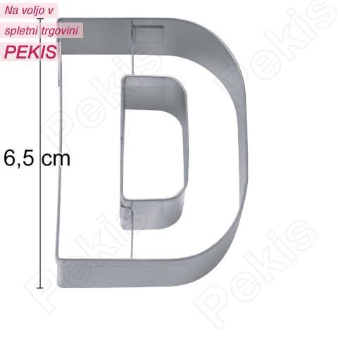 Modelček Črka 6,5cm, rostfrei, D