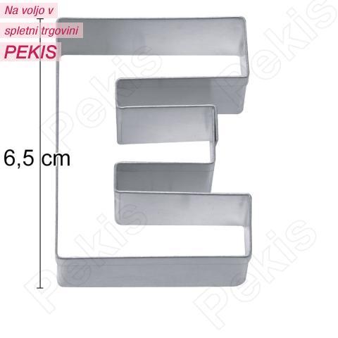 Modelček Črka 6,5cm, rostfrei, E