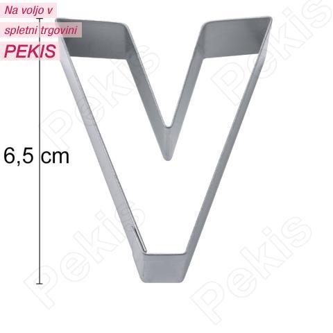 Modelček Črka 6,5cm, rostfrei, V