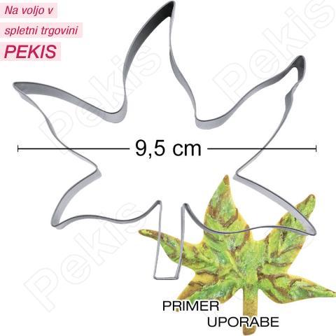 Modelček Bršljanov list 9,5cm, rostfrei