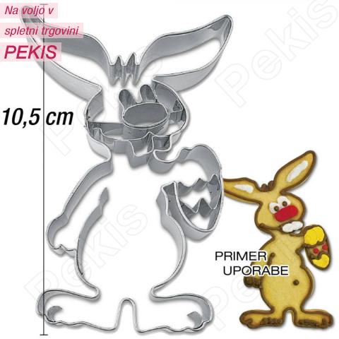 Modelček Zajček z jajčkom 10,5 cm, rostfrei