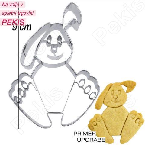 Modelček Sedeči zajček 9 cm, rostfrei
